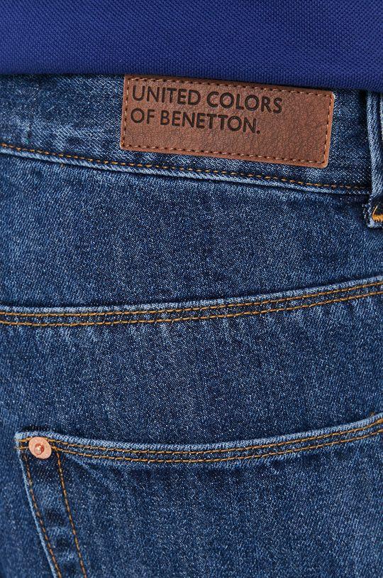 modrá United Colors of Benetton - Bavlnené rifľové šortky