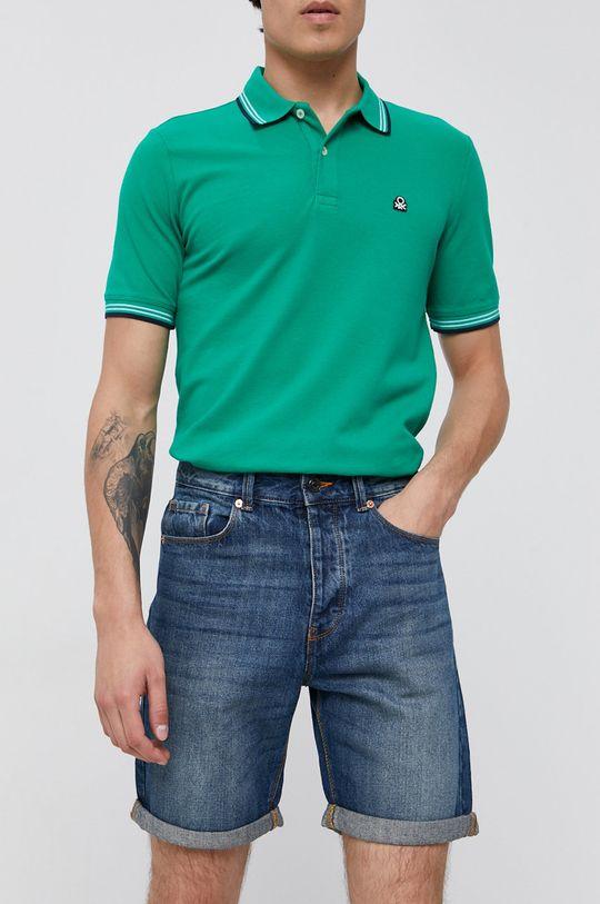 niebieski United Colors of Benetton - Szorty jeansowe Męski