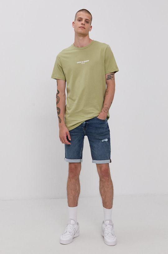 Only & Sons - Rifľové krátke nohavice tmavomodrá