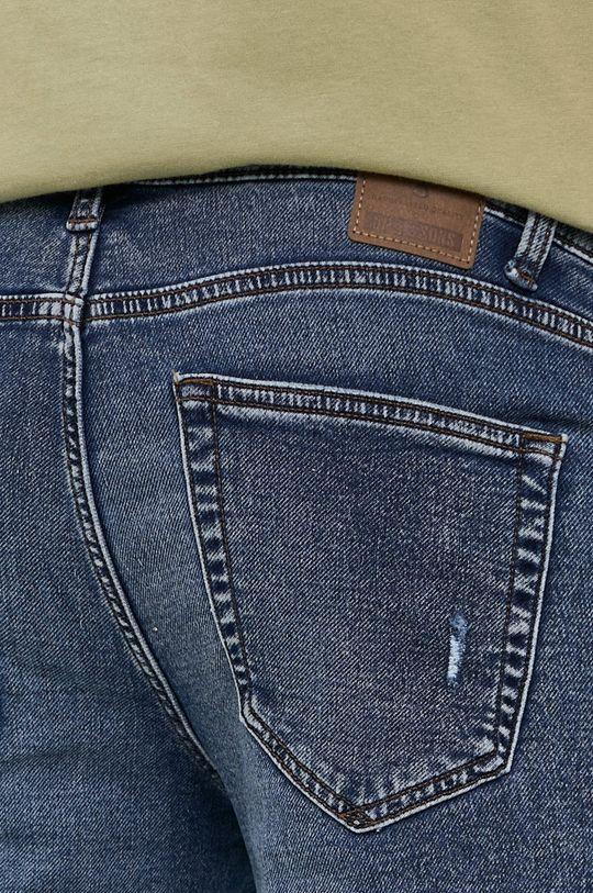 tmavomodrá Only & Sons - Rifľové krátke nohavice