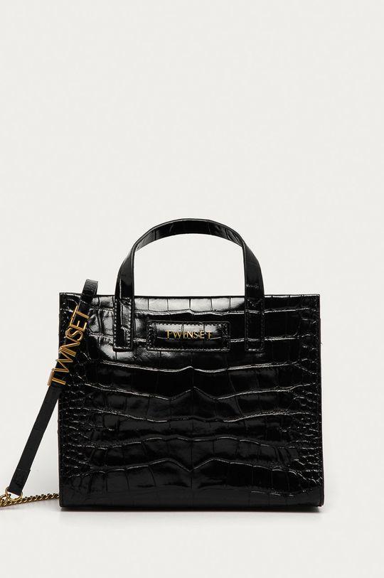 negru Twinset - Poseta de piele De femei