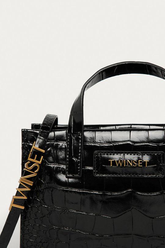 Twinset - Kožená kabelka černá