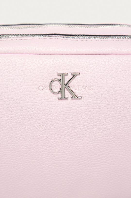 Calvin Klein Jeans - Kabelka pastelově růžová