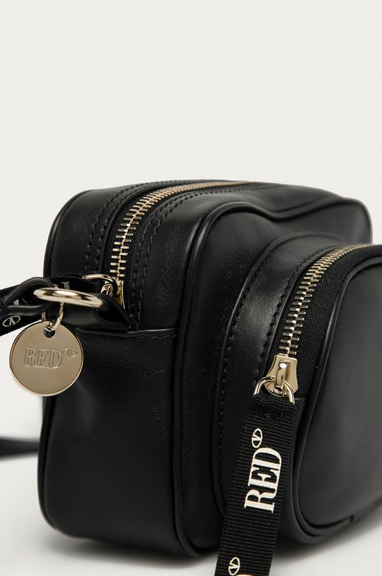 Red Valentino - Kožená kabelka černá