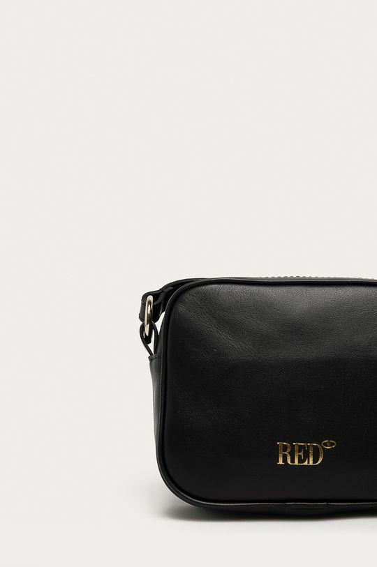 černá Red Valentino - Kožená kabelka