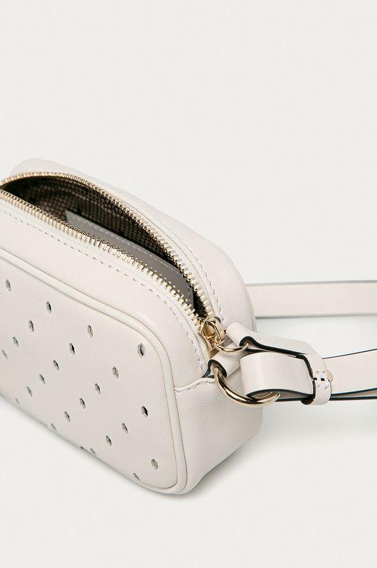 bílá Red Valentino - Kožená kabelka