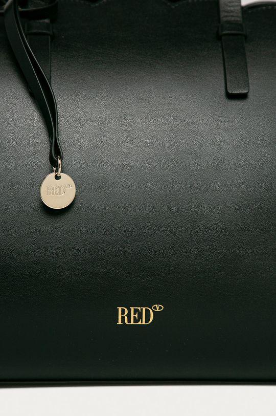 čierna Red Valentino - Kožená kabelka