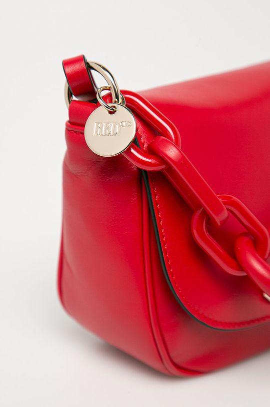 Red Valentino - Torebka skórzana czerwony