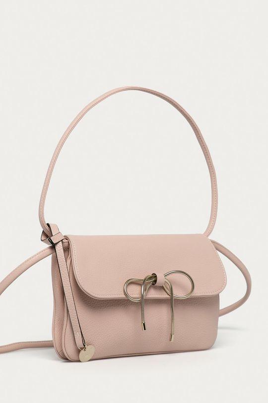 Red Valentino - Kožená kabelka ružová