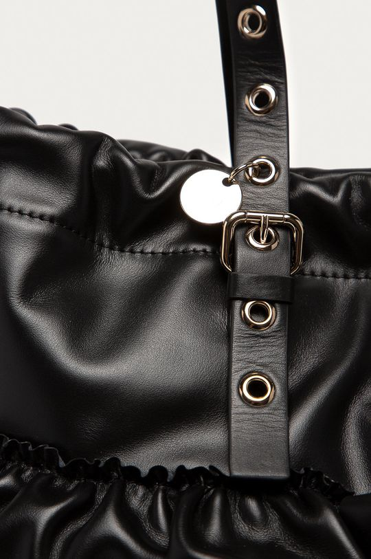 Red Valentino - Kožená kabelka čierna