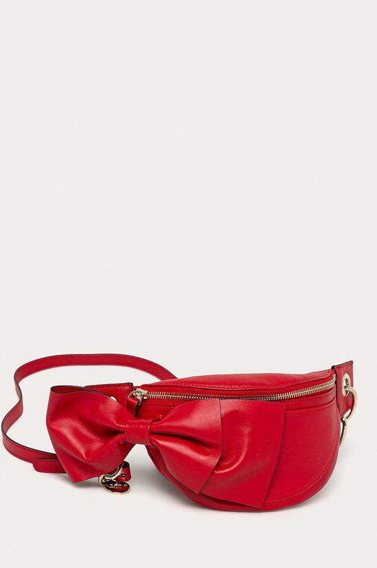 Red Valentino - Kožená ľadvinka červená