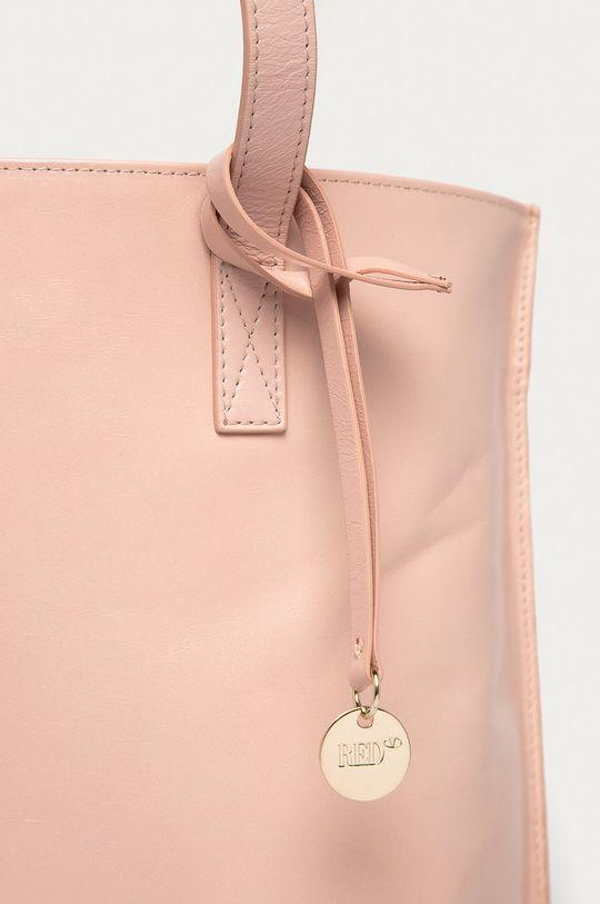 Red Valentino - Kožená kabelka růžová