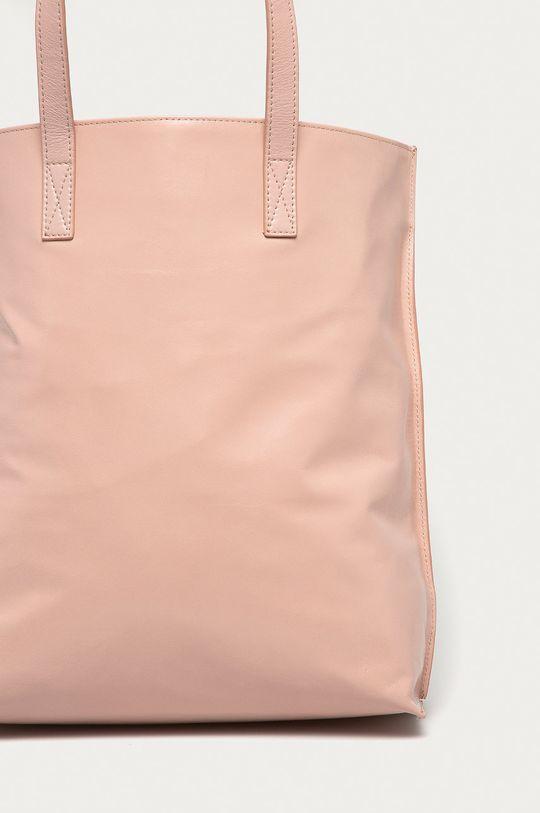 růžová Red Valentino - Kožená kabelka