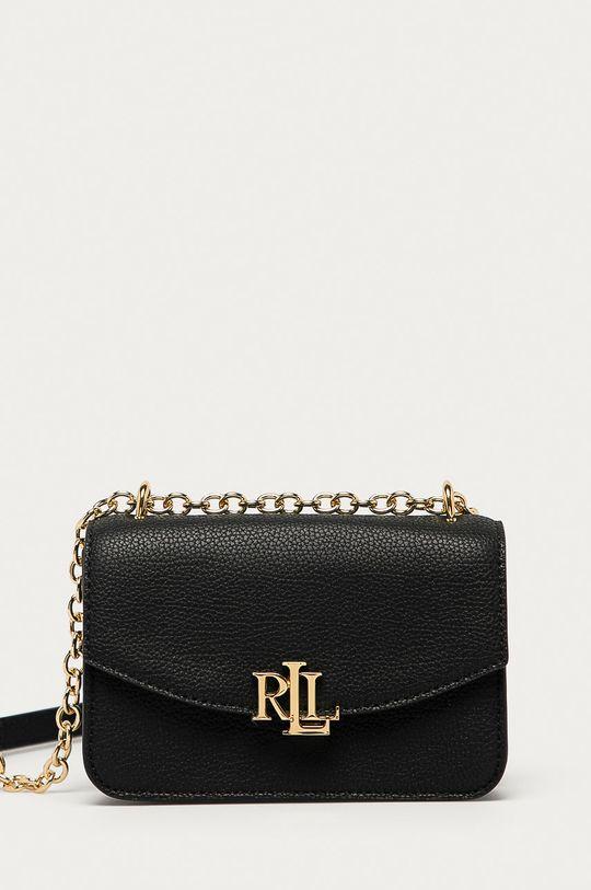černá Lauren Ralph Lauren - Kožená kabelka Dámský