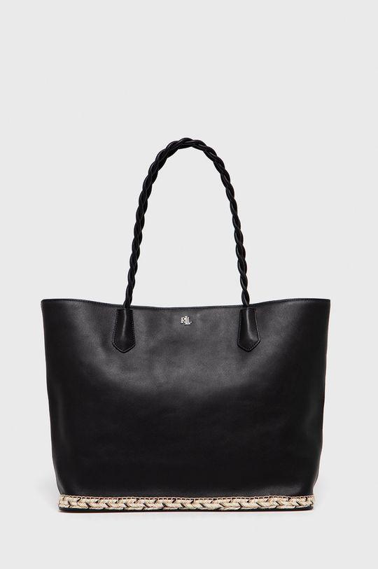 čierna Lauren Ralph Lauren - Kožená kabelka Dámsky
