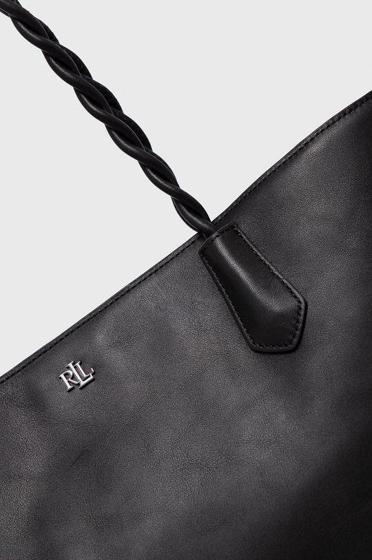 čierna Lauren Ralph Lauren - Kožená kabelka