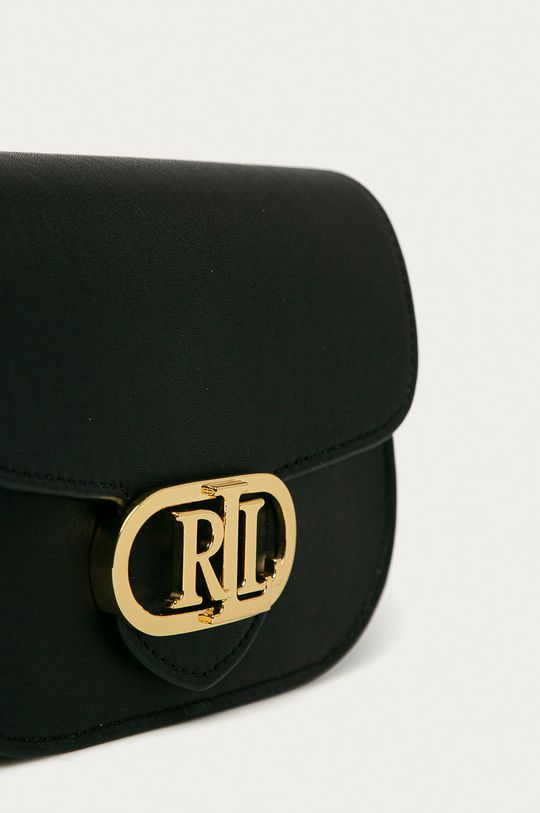 čierna Lauren Ralph Lauren - Kožená ľadvinka