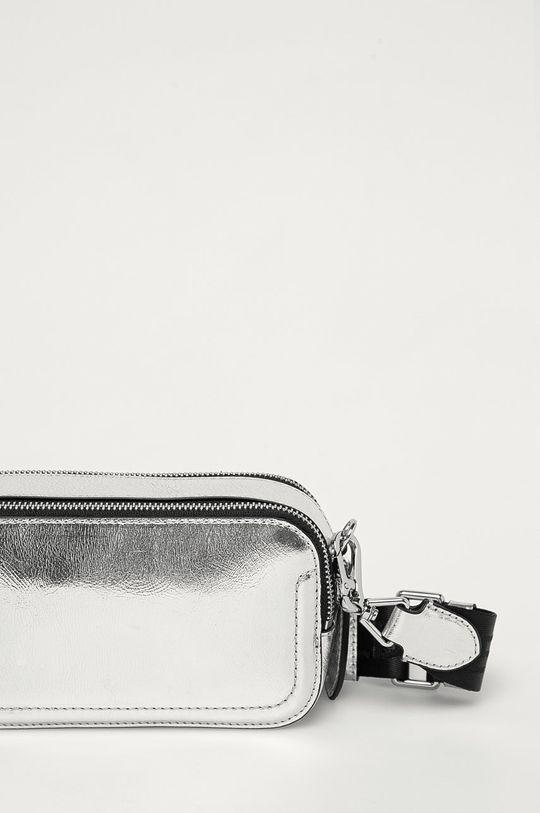 srebrny Karl Lagerfeld - Torebka skórzana
