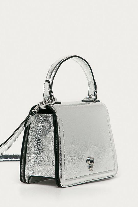 Karl Lagerfeld - Torebka skórzana srebrny