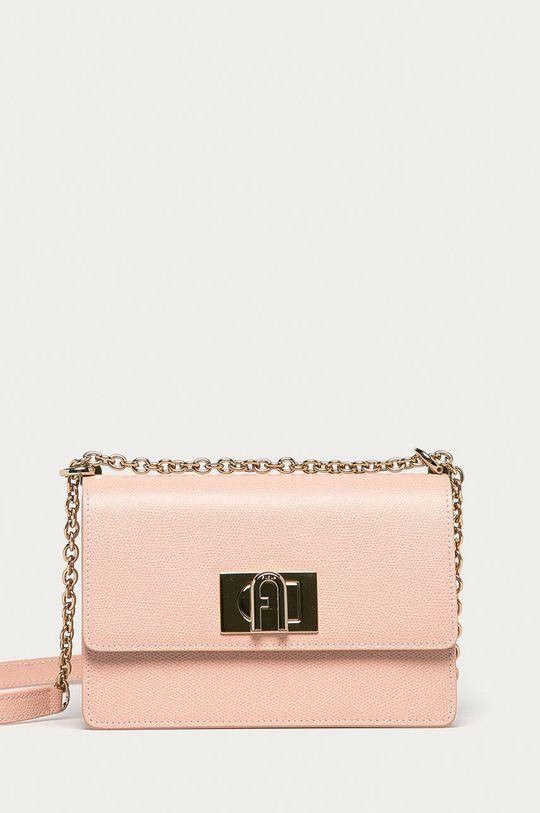 ružová Furla - Kožená kabelka 1927 Dámsky
