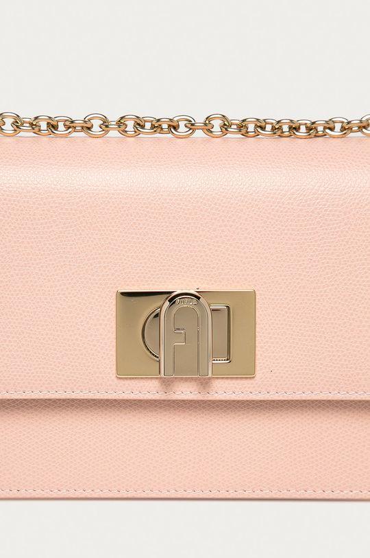 Furla - Kožená kabelka 1927 ružová