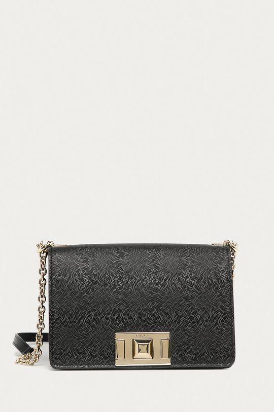 černá Furla - Kožená kabelka Mimi Dámský