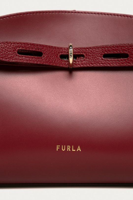 Furla - Torebka skórzana Margherita kasztanowy