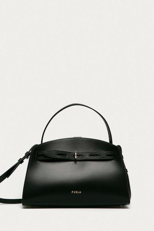 čierna Furla - Kožená kabelka Margherita Dámsky