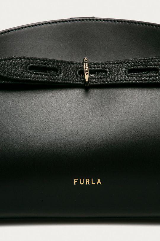 Furla - Kožená kabelka Margherita čierna