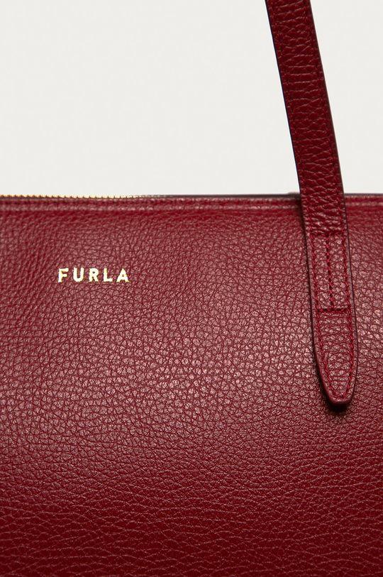 Furla - Kožená kabelka Net gaštanová