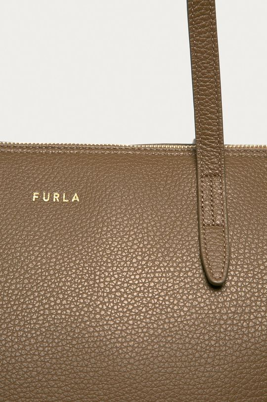 Furla - Torebka skórzana Net brudny zielony