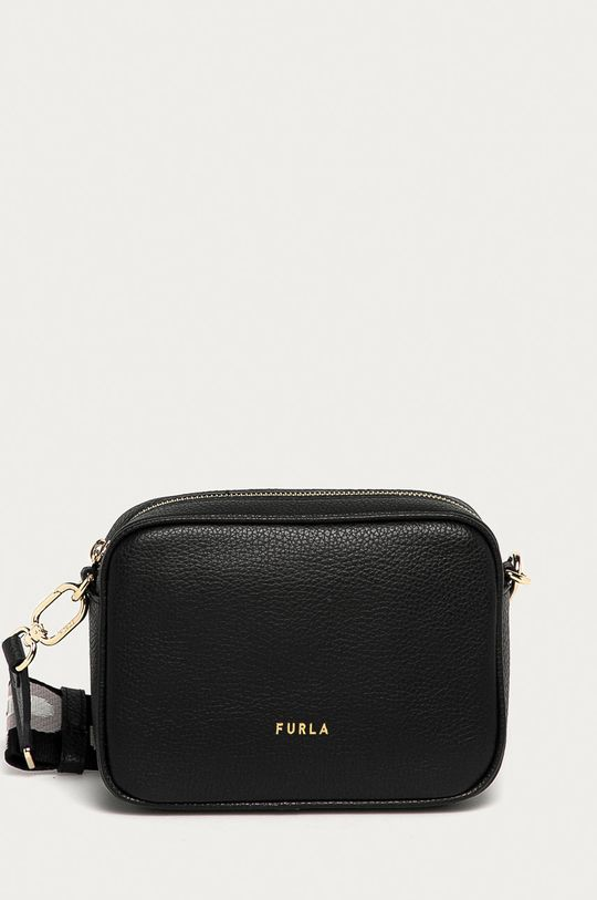čierna Furla - Kožená kabelka Real Mini Dámsky