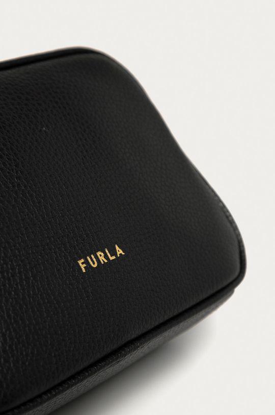 Furla - Kožená kabelka Real Mini čierna