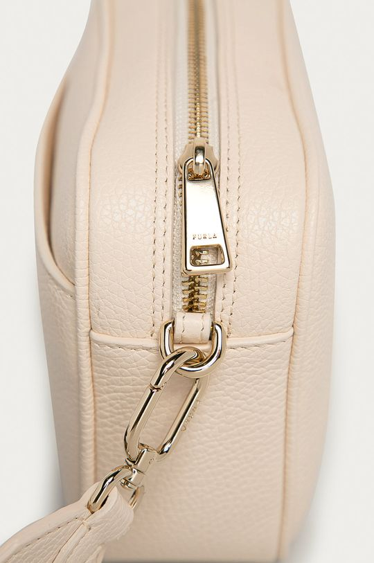 Furla - Kožená kabelka Real Mini krémová