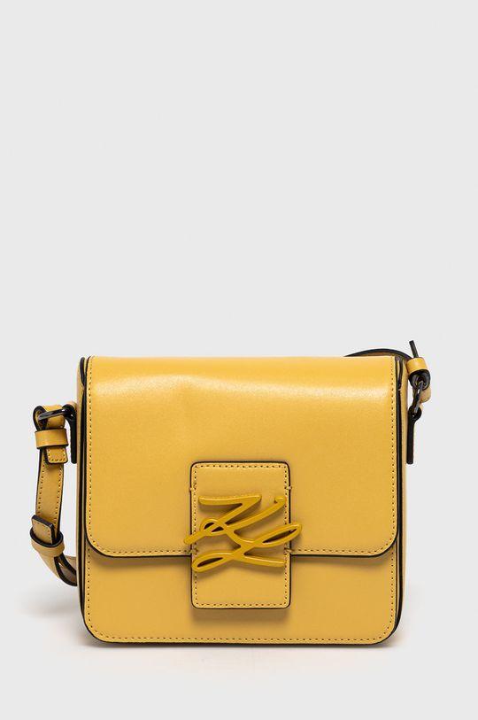 żółty Karl Lagerfeld - Torebka skórzana Damski
