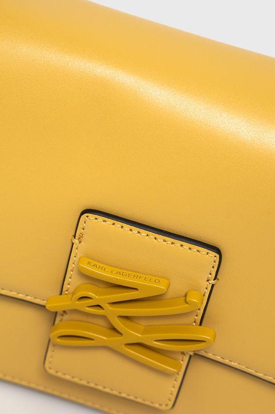 Karl Lagerfeld - Torebka skórzana żółty
