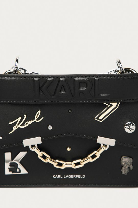 Karl Lagerfeld - Torebka skórzana czarny