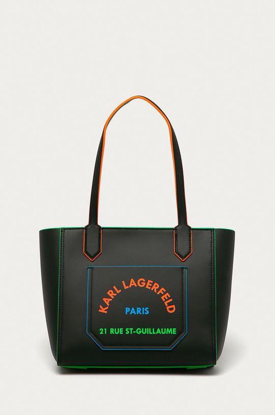 czarny Karl Lagerfeld - Torebka skórzana Damski