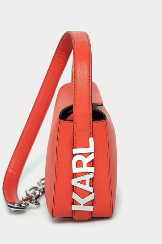 Karl Lagerfeld - Torebka skórzana czerwony