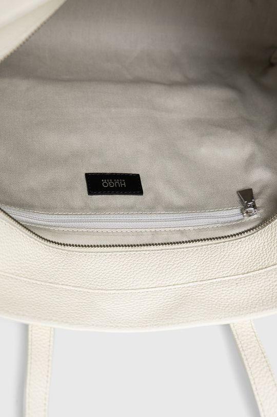 bílá Hugo - Kožená kabelka