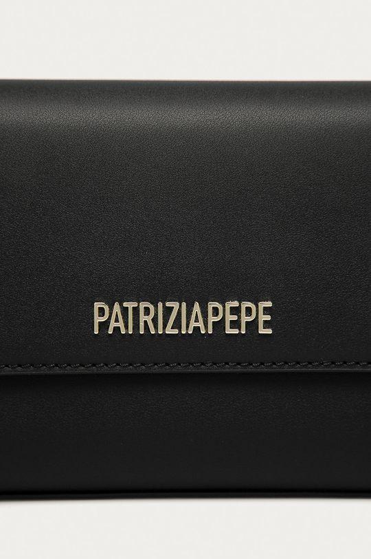 černá Patrizia Pepe - Kožená kabelka