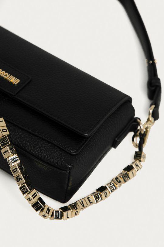 Love Moschino - Kožená kabelka černá