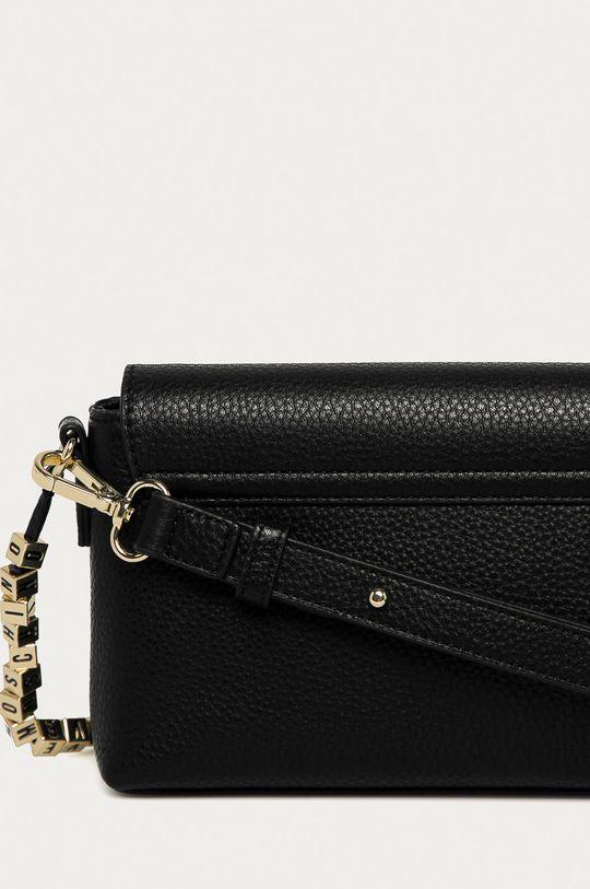 černá Love Moschino - Kožená kabelka
