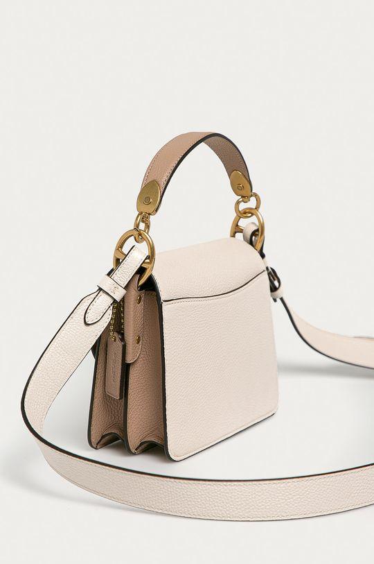 Coach - Kožená kabelka krémová