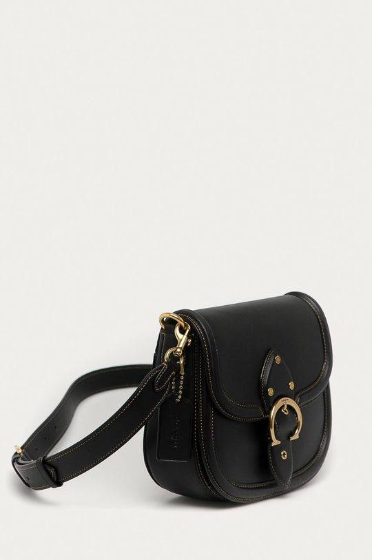 Coach - Kožená kabelka  Přírodní kůže