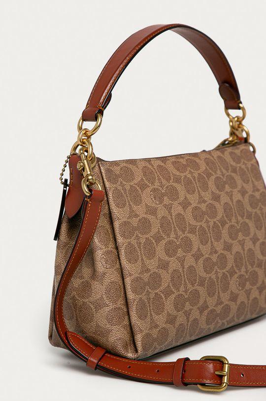 Coach - Kožená kabelka hnedá