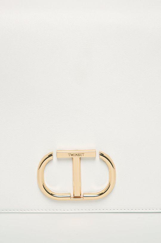Twinset - Kožená kabelka biela