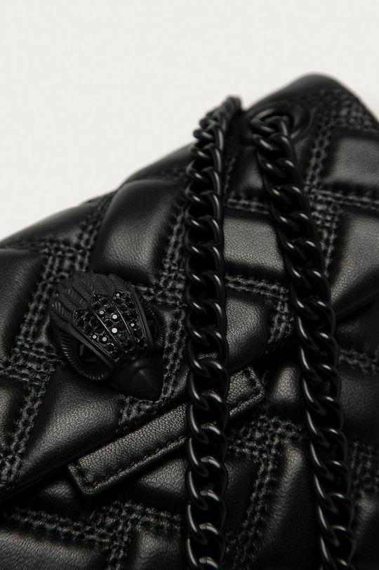 Kurt Geiger London - Kožená kabelka Kensington černá