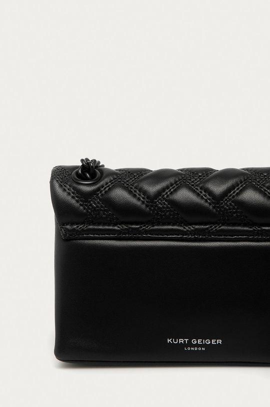 černá Kurt Geiger London - Kožená kabelka Kensington