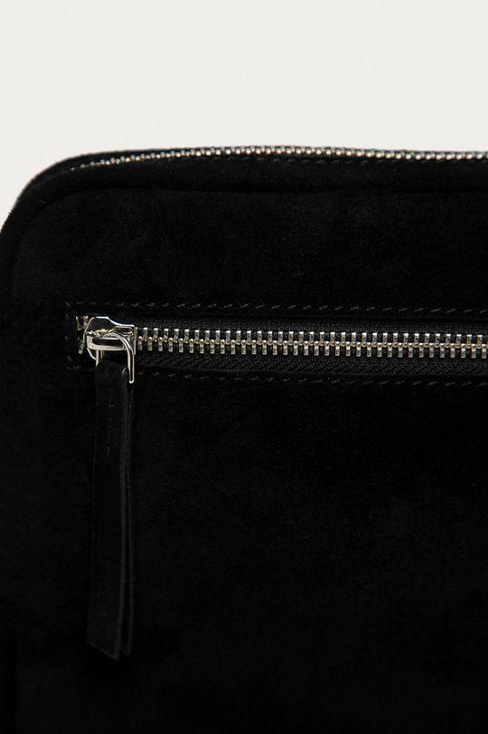 Only - Semišová kabelka čierna